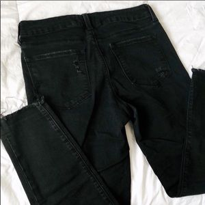 Just Black Demin black cropped distressed jeans